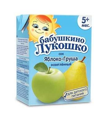 Сок яблочно-грушевый осветлённый