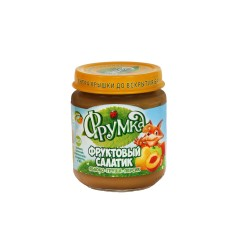 Пюре из яблок, груш и персиков «Фруктовый салатик»