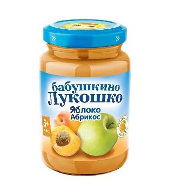 Пюре из яблок и абрикосов с сахаром