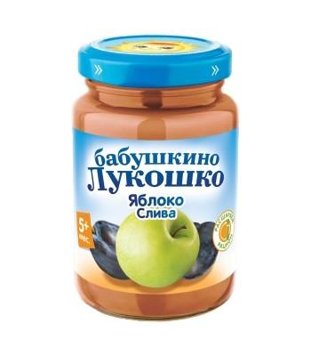 Пюре из яблок и слив с сахаром